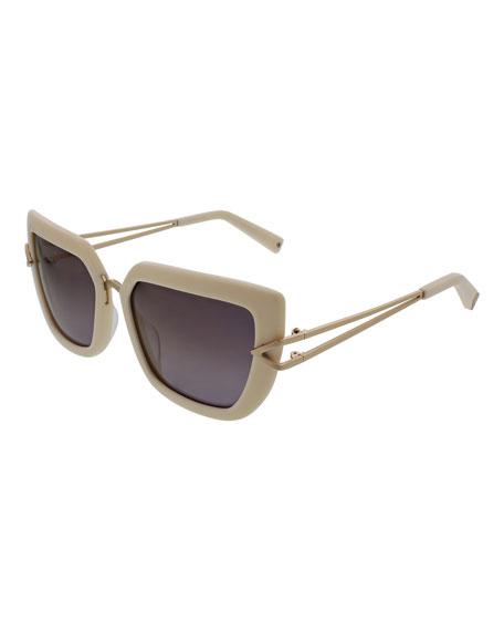 Bianca Split-Temple Cat-Eye Sunglasses