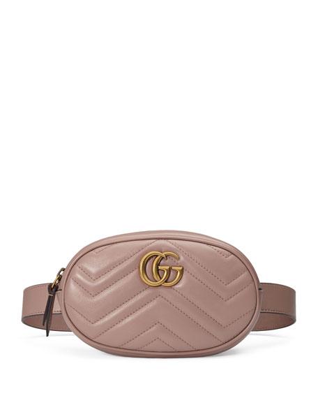 7e7b62834db4e1 Gucci GG Marmont Small Matelasse Leather Belt Bag | Neiman Marcus