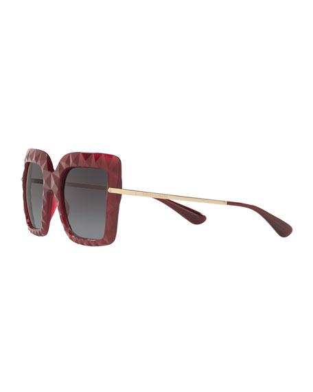 Square Faceted Sunglasses