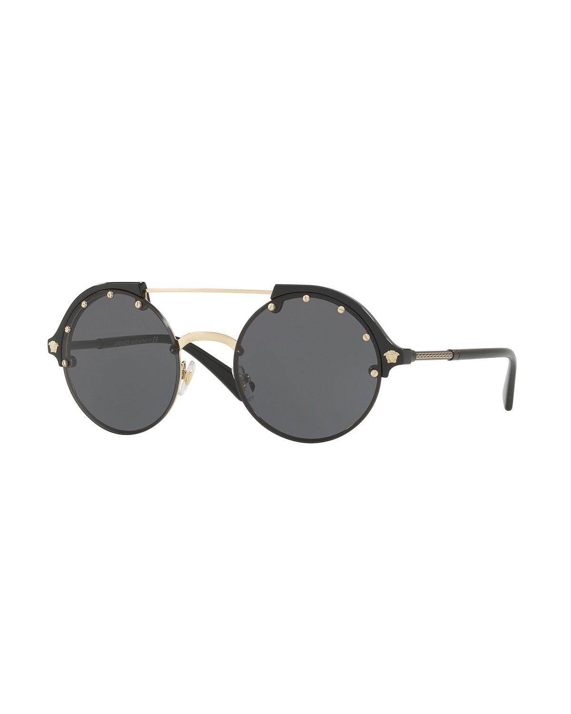 3988e0746872a Versace Round Studded Sunglasses