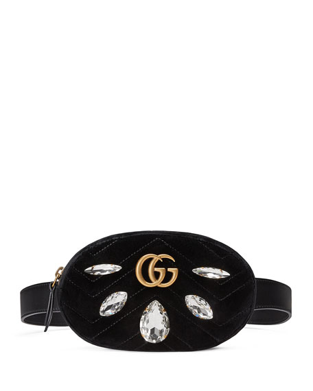 Gucci GG Marmont Small Quilted Velvet Belt Bag