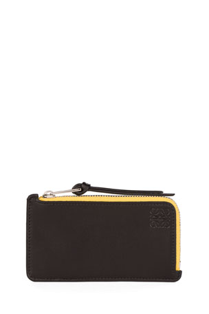 Loewe Rainbow Leather Coin and Card Holder