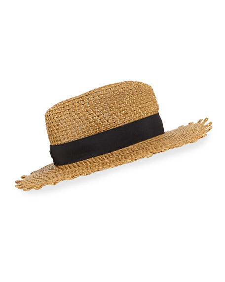 Image 1 of 3: Eric Javits Squishee Cannes Boater Hat