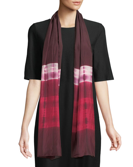 Eileen Fisher Silk Shibori Ribbons Scarf