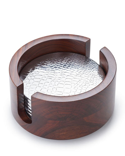Kenya Crocodile-Pattern Coasters