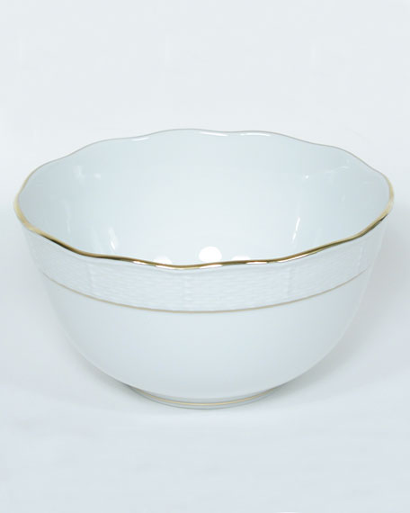 Golden Edge Round Bowl