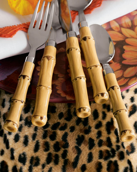 20-Piece Bamboo-Style Flatware Service