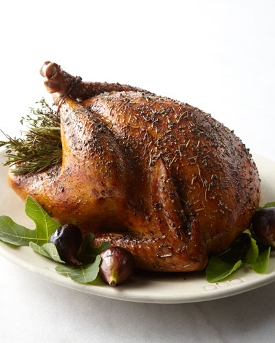 Herb-Roasted Turkey  For 10-12 People
