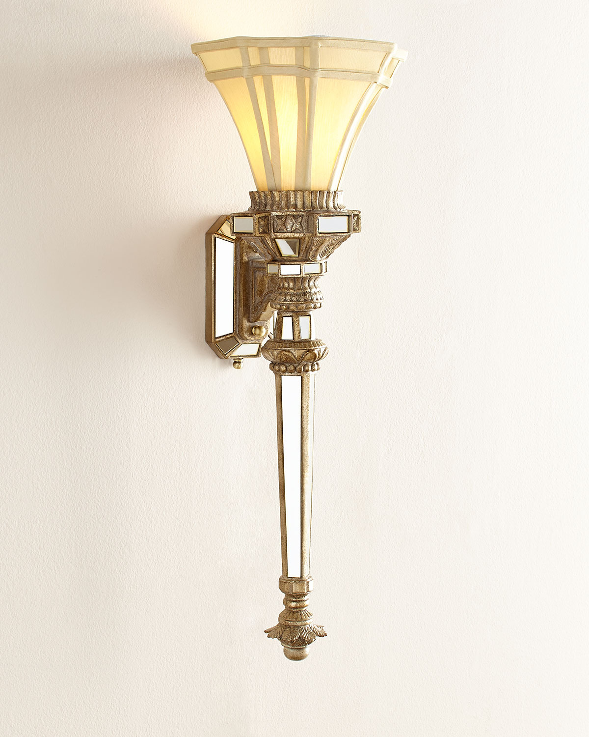 John richard collection fluted wall torch neiman marcus aloadofball Images