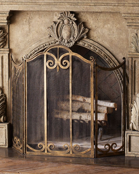 Image 1 of 2: Classic Fireplace Screen