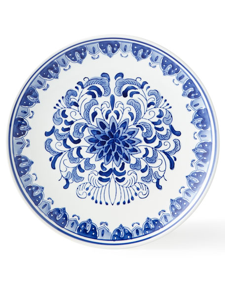 Neiman Marcus Set of 12 Assorted Blue & White Dinner Plates
