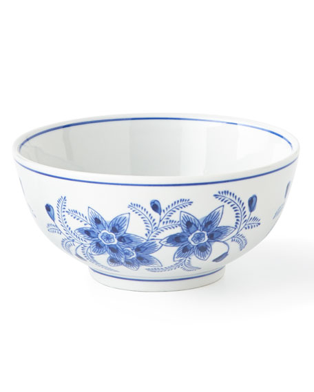 Neiman Marcus Set of 12 Assorted Blue & White Cereal Bowls