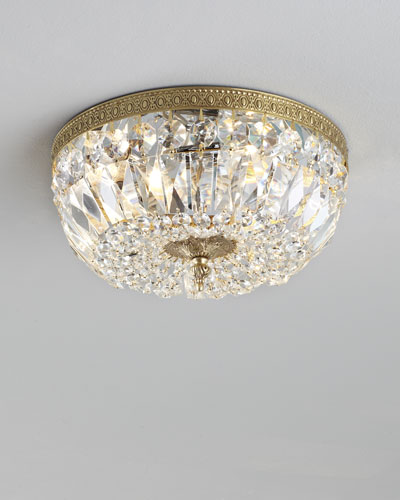 Large Prism Brass Flush-Mount Ceiling Fixture