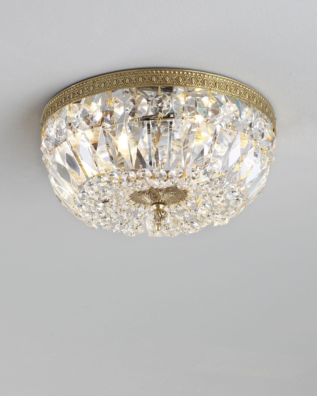Crystorama Large Prism Brass Flush Mount Ceiling Fixture Neiman Marcus