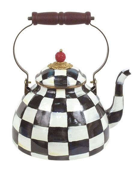 MacKenzie-Childs Courtly Check Two-Quart Tea Kettle