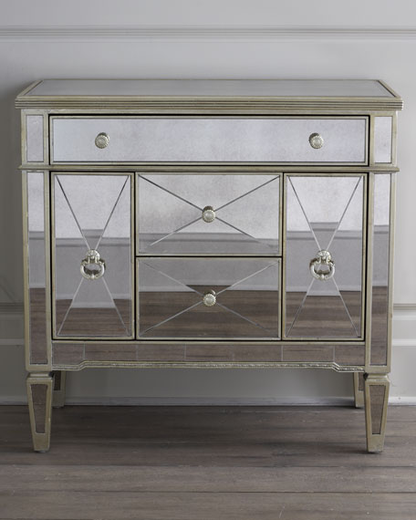 drawer chest z of stylish gallerie drawers omni p mirrored
