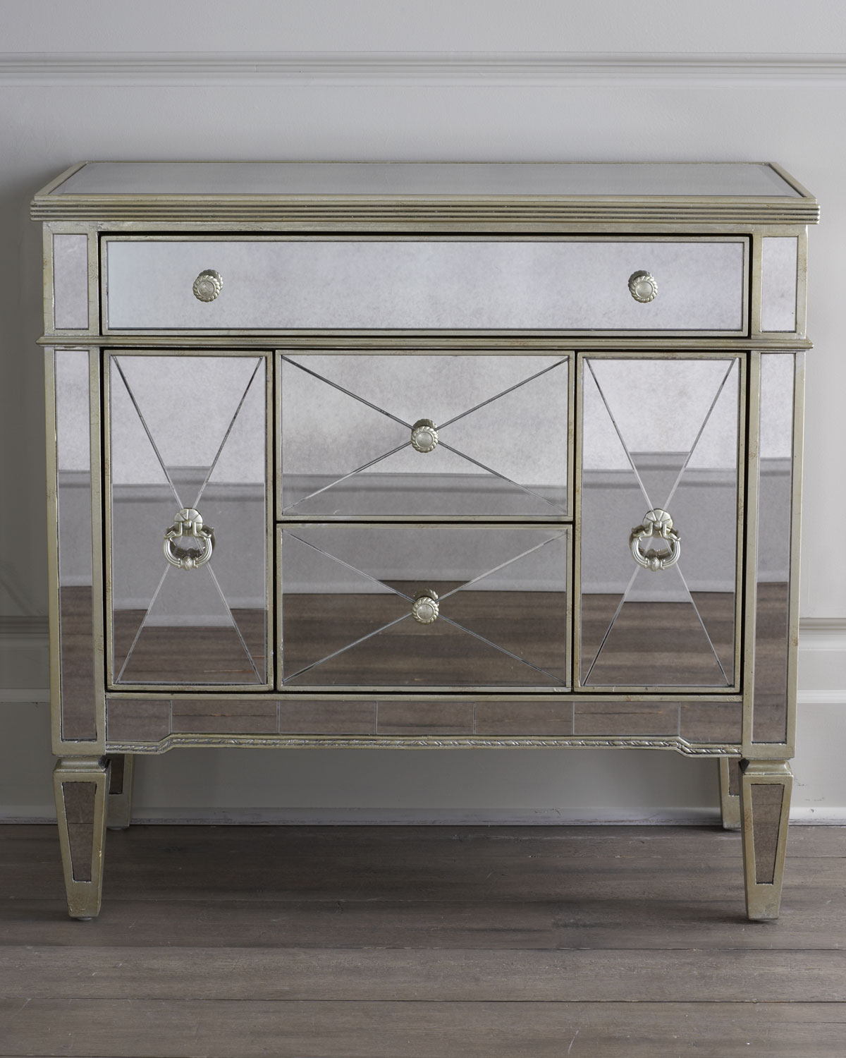 Amelie Small Mirrored Chest Neiman Marcus