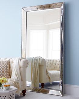 Beaded Floor Mirror