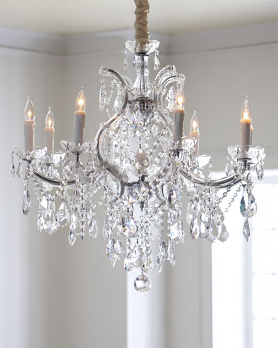 Crystal Drop Nine-Light Chandelier