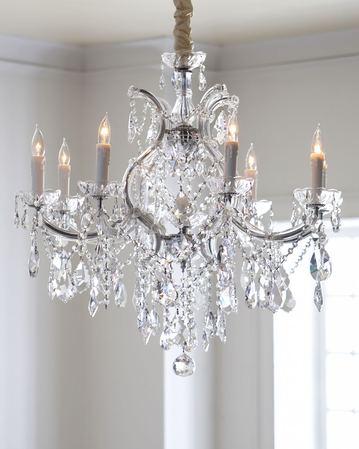 Neiman Marcus Lighting Inside Crystal Drop 9light Chandelier Neiman Marcus