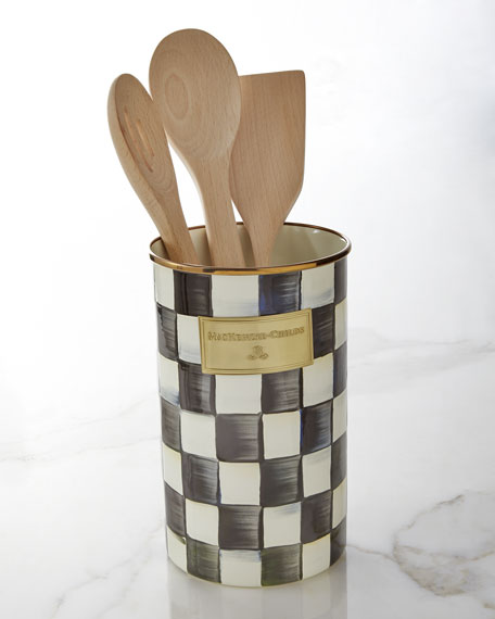 Image 1 of 2: MacKenzie-Childs Courtly Check Utensil Holder