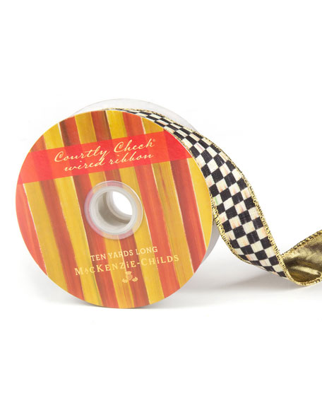 "Courtly Check 1"" Ribbon"