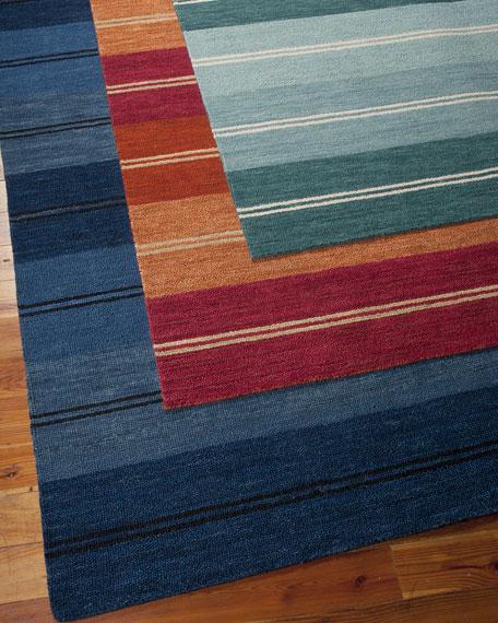 "Villa Stripes Flatweave Rug, 3'6"" x 5'6"""