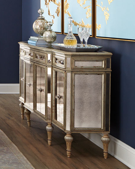 Dresden Four Door Mirrored Buffet
