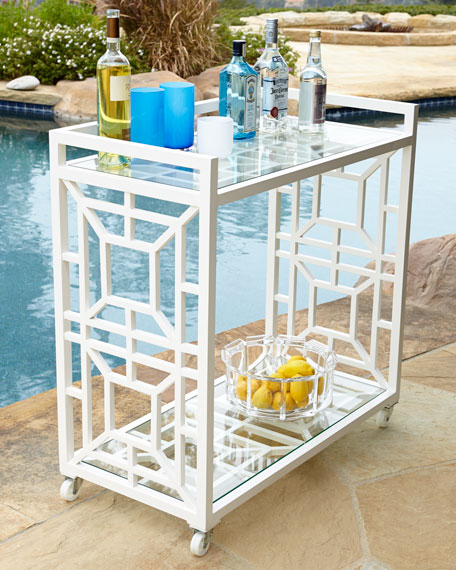 Tamsin Chinoiserie Bar Cart