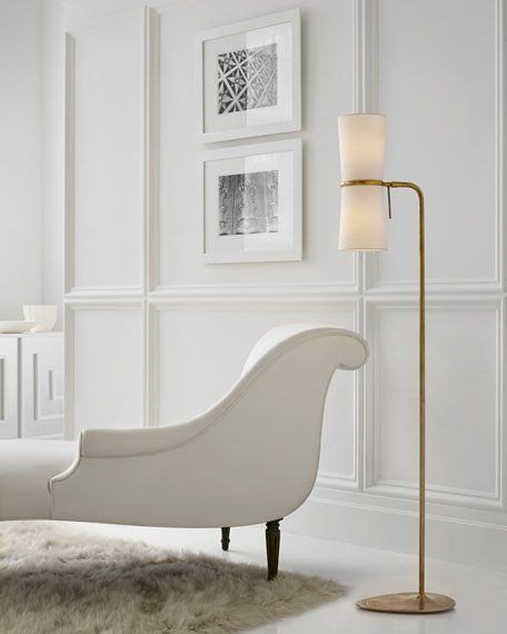 Clarkson Brass Floor Lamp
