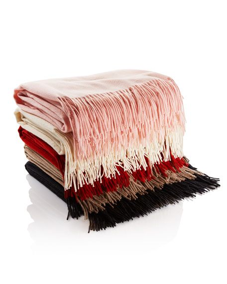 WOVEN FRINGED THROW 56X72