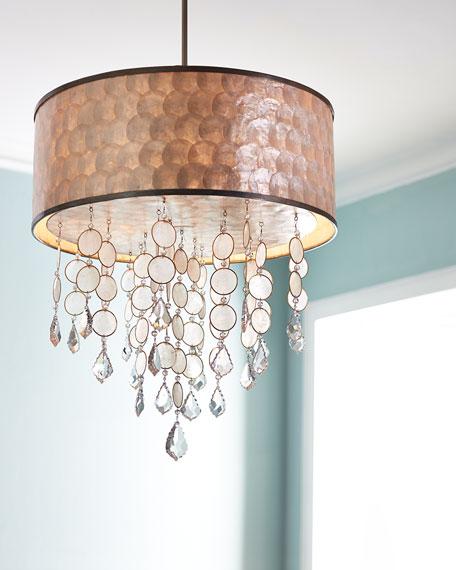 Baronet 3-Light Capiz & Crystal Chandelier