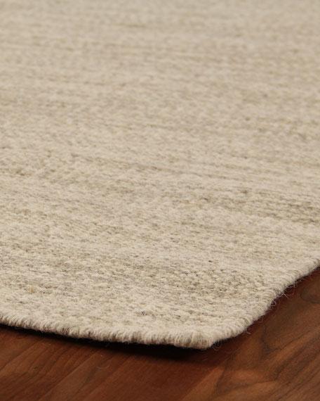 Exquisite Rugs Heathered Flatweave Rug, 8' x 10'