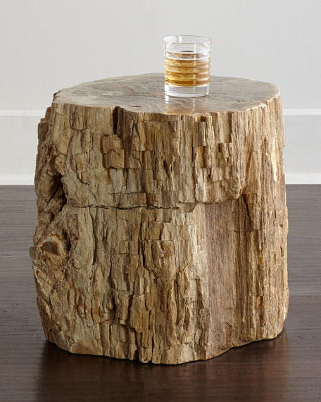 Bernhardt Petrified Wood Side Table