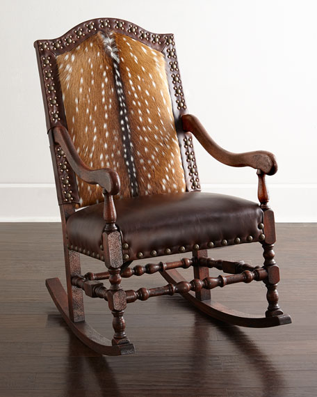 Image 1 of 4: Old Hickory Tannery Jefferson Rocking Chair