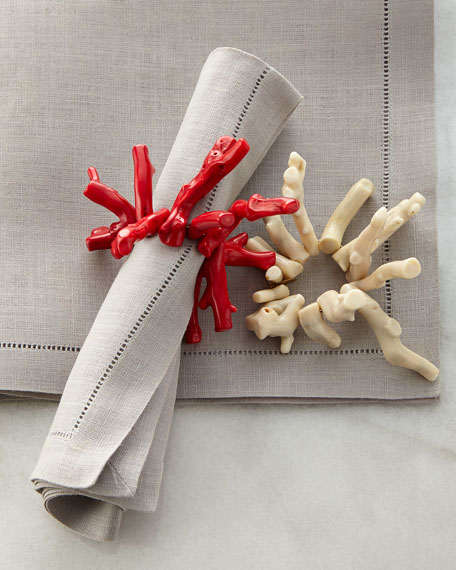 Joseph Williams Polished Coral Napkin Ring