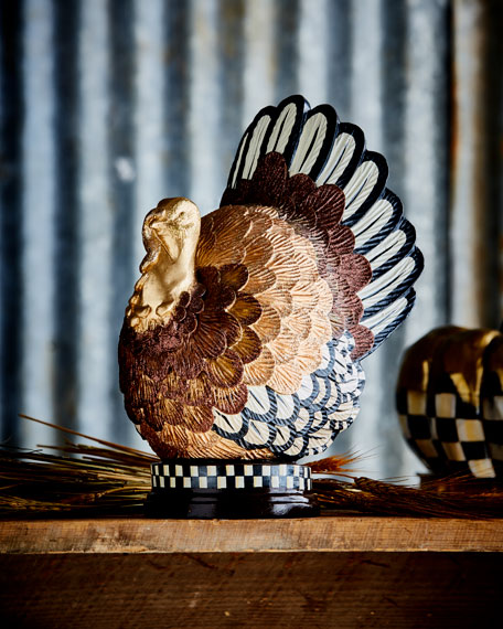 MacKenzie-Childs Autumn Harvest Turkey Figure