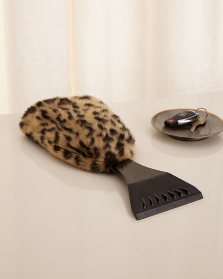 Image 1 of 4: Leopard Ice Scraper