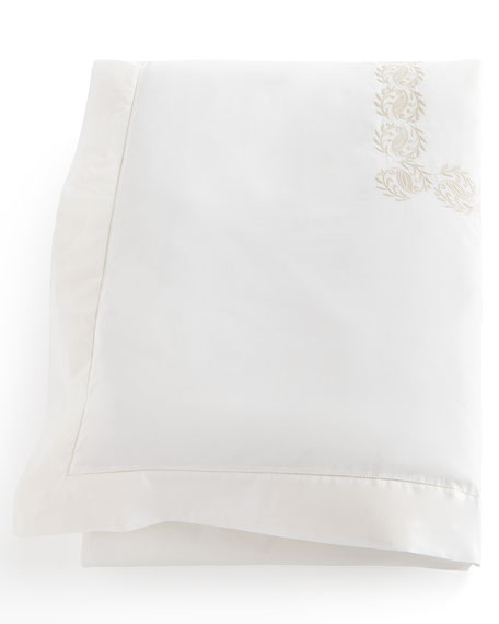 Peacock Alley Queen Vienna Embroidered Duvet Cover