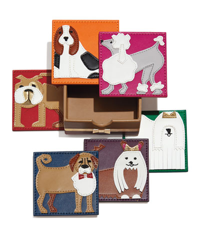 Darling pleather puppy coasters