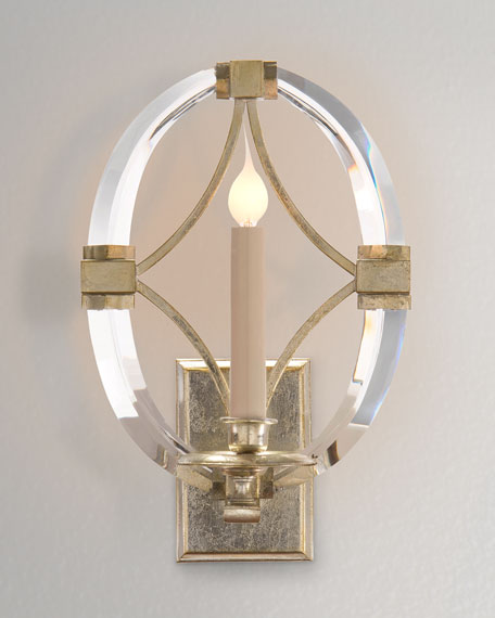 John-Richard Collection Bent-Crystal One-Light Sconce