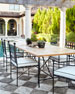 """Avery Neoclassical 88""""L Outdoor Dining Table"""