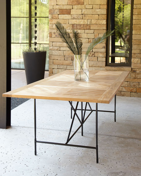"Avery Neoclassical 122""L Outdoor Dining Table"