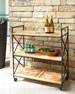 Image 1 of 3: Avery Neoclassical Outdoor Bar Cart