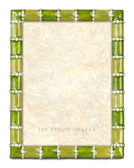 """Jay Strongwater Striped 5"""" x 7"""" Picture Frame"""