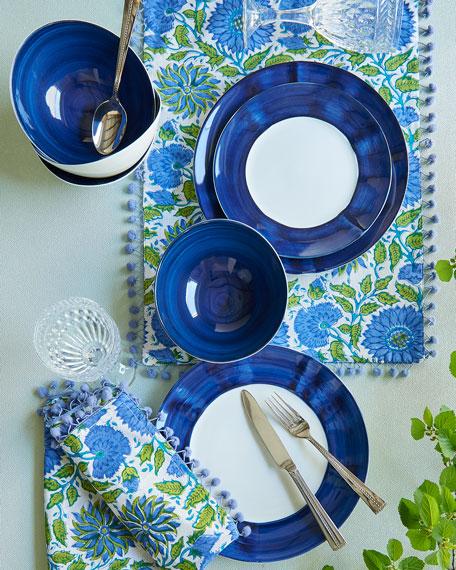 12-Piece Cobalt Brushstroke Dinnerware Service