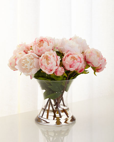 Image 1 of 3: John-Richard Collection Peonies N Pink Faux-Floral Arrangement