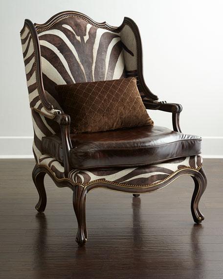 Massoud Zena Hairhide & Leather Wing Chair