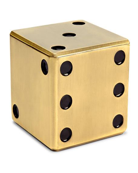 Image 2 of 2: L'Objet Golden Dice Decorative Box