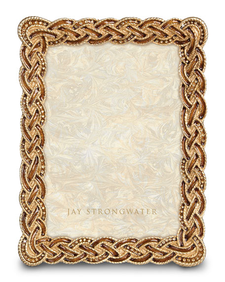 "Jay Strongwater Braided 5"" x 7"" Picture Frame"